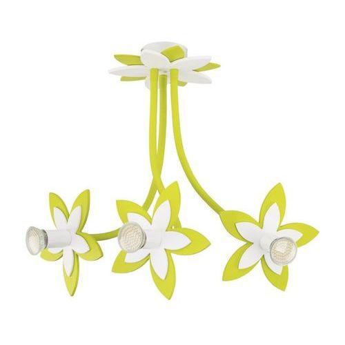 Plafon Nowodvorski Flowers Green 6898 kwiatki lampa sufitowa 3x35W GU10 zielony (5903139689892)