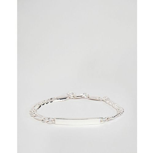 Chained & Able figaro id bracelet in silver - Silver
