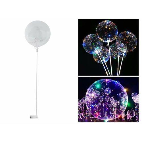 Zestaw balon z kolorowymi lampkami LED patyczkiem i koszyczkiem