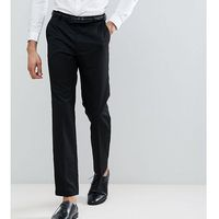 Burton menswear tailored smart trousers in black - black