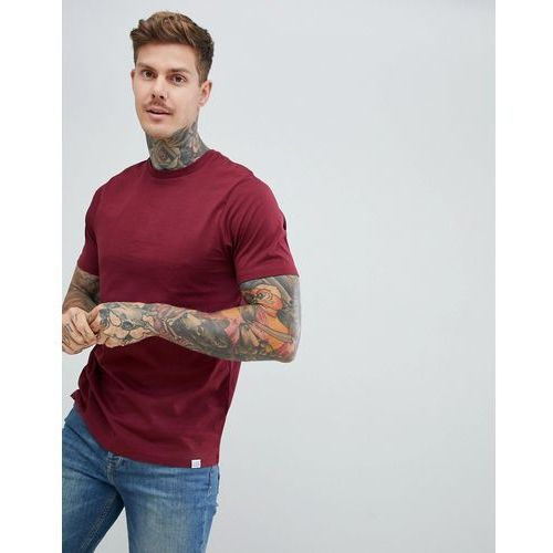 Pull&Bear Join Life Basic T-Shirt In Burgundy - Red, kolor czerwony