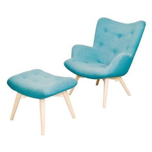 Tutubi fotel tapicerowany z podnóżkiem marki Scandinavian style design