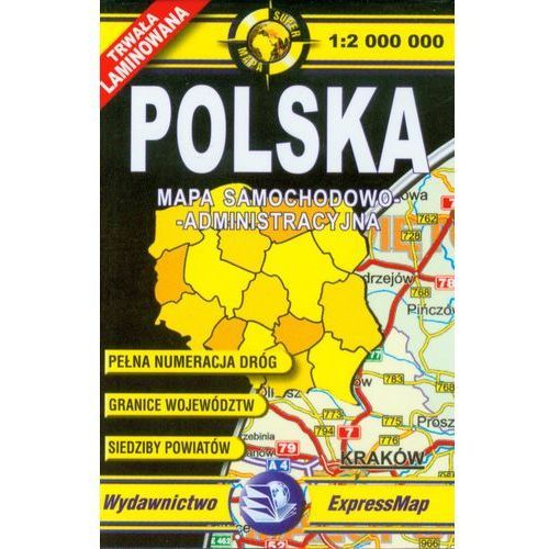 Polska mapa samochodowo administracyjna 1:2 000 000, ExpressMap