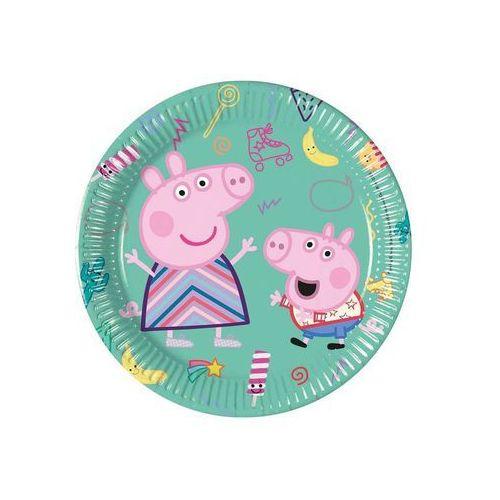 Talerzyki urodzinowe świnka peppa - 20 cm - 8 szt. marki Procos disney