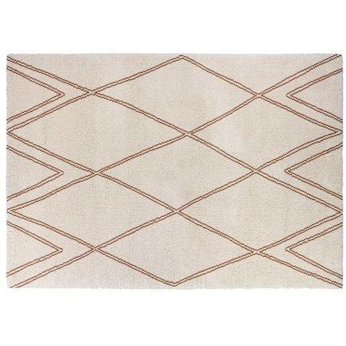 Dywan arcadie w stylu berberyjskim – 100% polipropylen – 160 × 230 cm – kolor ecru i pomarańczowy marki Vente-unique