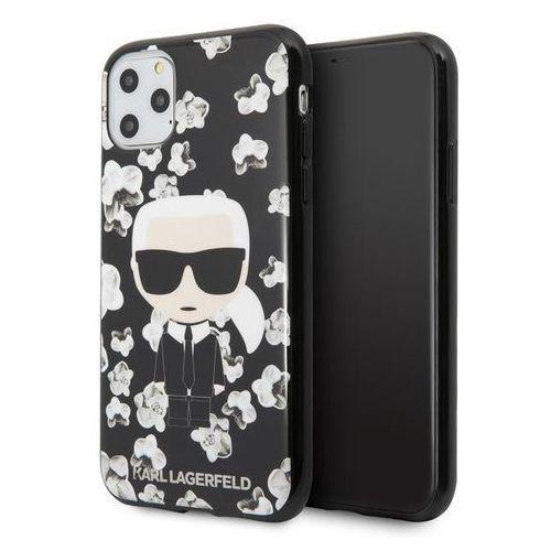 Karl Lagerfeld Iconic Karl Flower - Etui iPhone 11 Pro (czarny), 10_14946