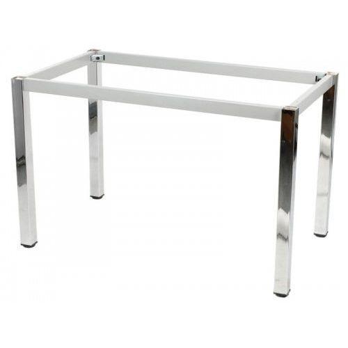 Stelaż ramowy stołu chromowany, 176x76 cm, noga kwadratowa marki Stema - ny