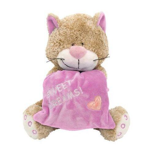 Maskotka kot z poduszką różowy 18 cm 10922 - marki Beppe