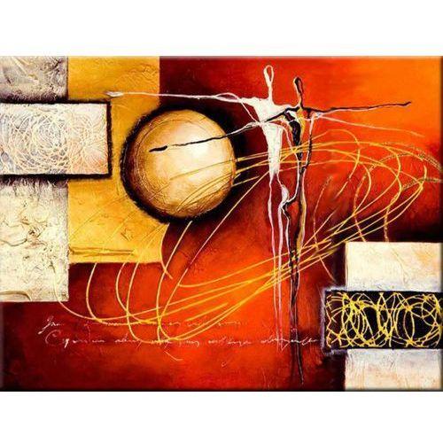 ręcznie malowany, grubo fakturowany obraz nowoczesny 90x80cm