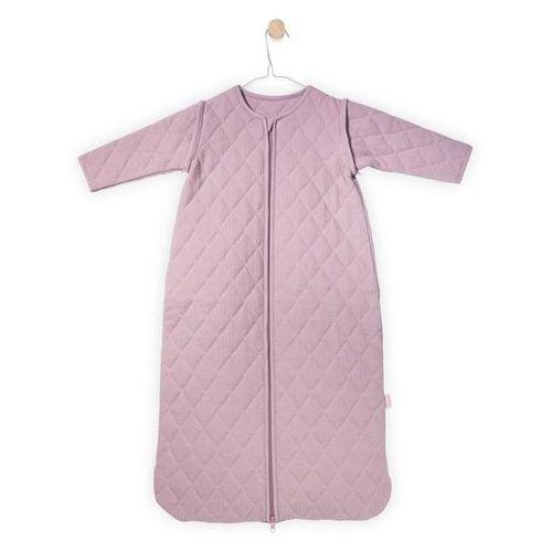 Jollein - Śpiworek do spania z rękawkami 0-6 miesięcy, Mini Waffle Brudny róż, 70 cm, 016-548-65070