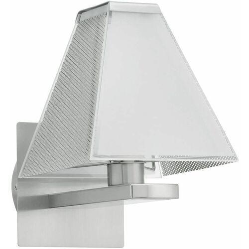 Eglo Srebrny kinkiet metal + szkło 1xg9 (9002759897659)