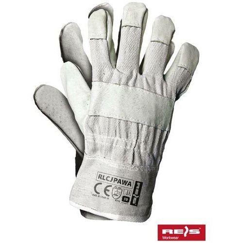 Rękawice robocze wzmacniane skórą licową rlcjpawa rozmiar 10 marki R.e.i.s.