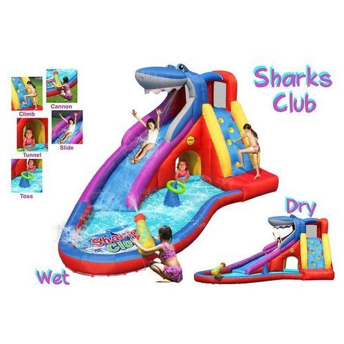 Dmuchana zjeżdżalnia wodna Happy Hop - Shark (6933491994173)