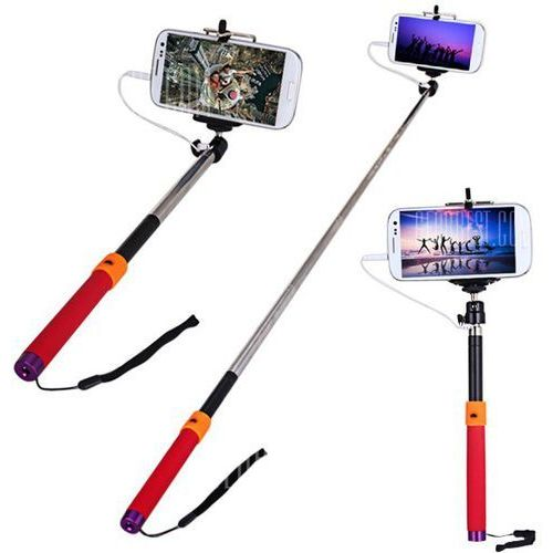 Gearbest Fashionable rc self timer stretch camera monopod with clip stand and 3.5mm audio cable, kategoria: kijki do selfie
