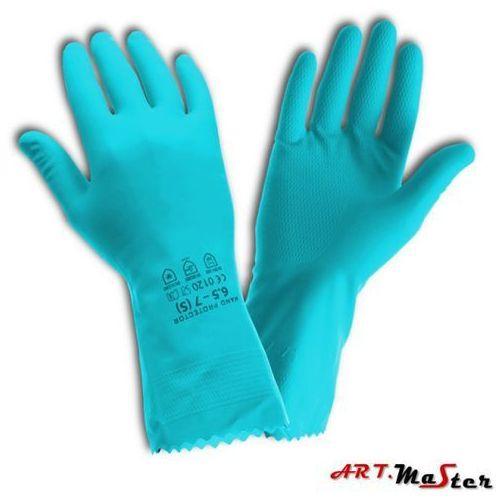 Rękawice ochronne gospodarcze lateksowe, flokowane bawełną Handprotector S
