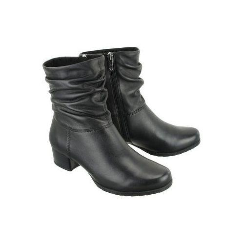 CAPRICE 25301-21 022 black nappa, botki damskie, kolor czarny