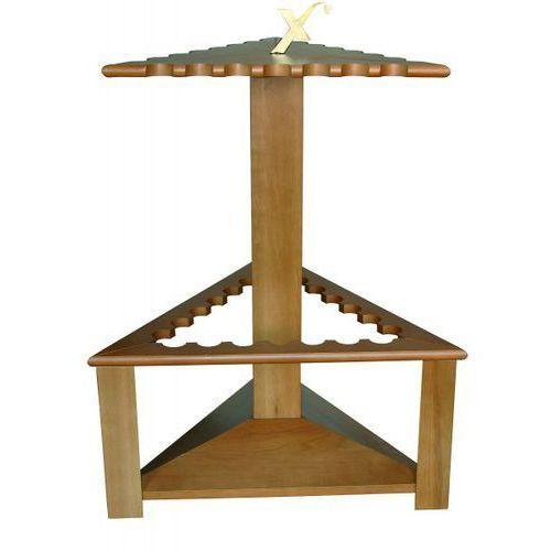 Drewniany trójkątny stojak na 21 wędek Exori