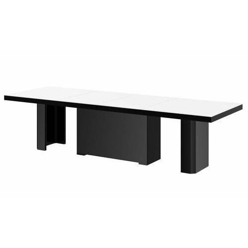 Stół kolos max 180-468 biało-czarny mat marki Hubertus