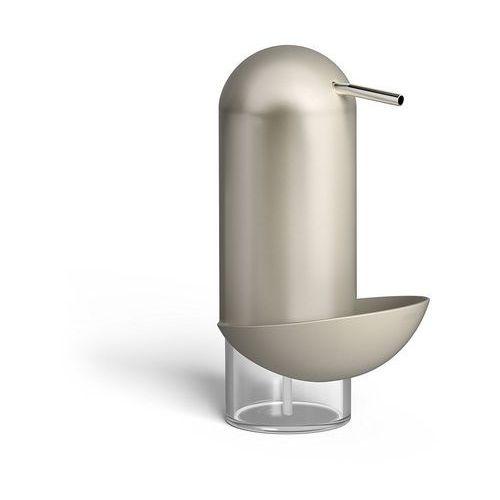 Umbra - dozownik mydła/płynu z pojemnikiem na myjkę nikiel