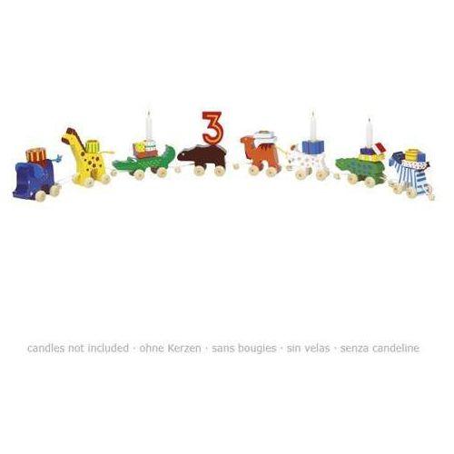 Pociąg urodzinowy dla dzieci z cyframi od 1 do 6. parada zwierzątek wyprodukowany przez Goki