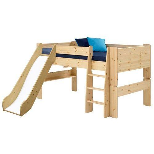 Steens Łóżko piętrowe niskie z drabinką z zjeżdżalnią for kids