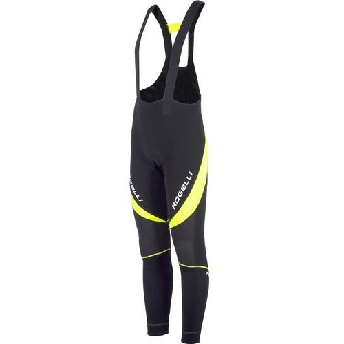 Rogelli Travo 2.0 - męskie spodnie rowerowe z wkładką żelową (czarno-żółty)