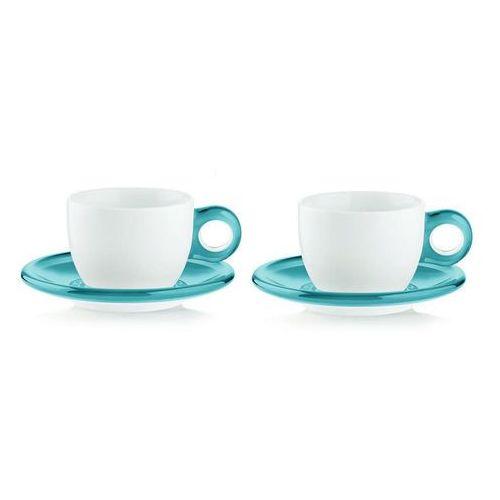 Guzzini - gocce - kpl. 2 filiżanek do cappuccino, niebieski - niebieski