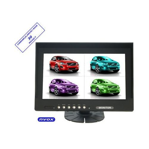 "NVOX HM 940 QUAD Monitor samochodowy lub wolnostojący LCD 9"" cali HD cofania obsługa 4 kamer 12V - 24V"