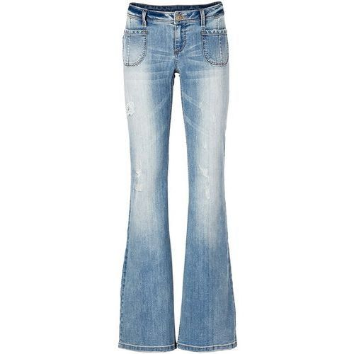 """Dżinsy dzwony bonprix niebieski """"stone"""", jeansy"""