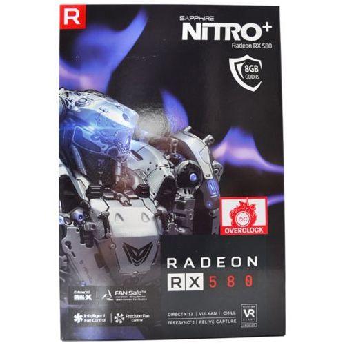SAPPHIRE Radeon RX 580 NITRO+ 8G 2xH 2xDP DVI 11265-01-20G - odbiór w 2000 punktach - Salony, Paczkomaty, Stacje Orlen (4895106281868)