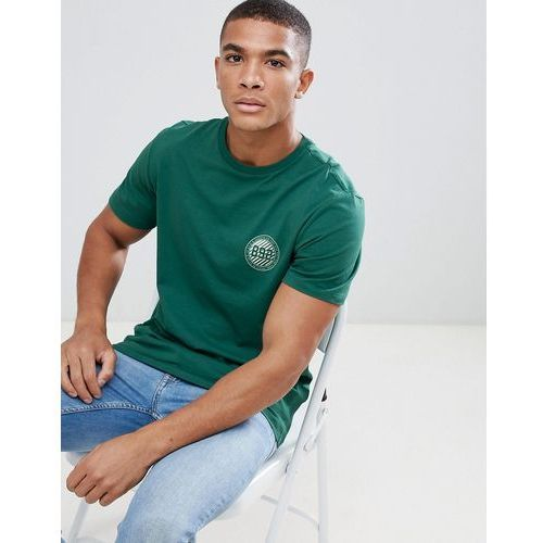 New look t-shirt with new york badge print in green - green