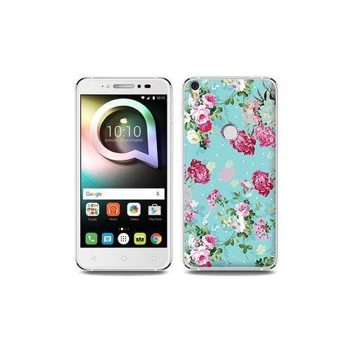 Alcatel Shine Lite - etui na telefon Fantastic Case - różyczki na miętowym tle