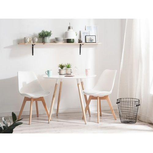 Stół do kuchni biały - 120 cm - stół do jadalni lub salonu - bovio marki Beliani