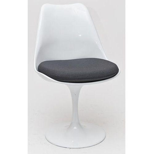 Krzesło Tul insp. TULIP biały/szara poduszka D2, 5536