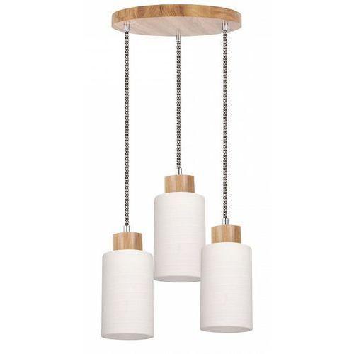 SPOT-LIGHT BOSCO Lampa wisząca Dąb/Czarno-biały 3XE27-60W 1714570, kolor dąb/czarno-biały