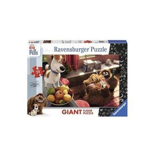 Puzzle podłogowe 24 elementy - sekretne życie zwierzaków. 054831 - marki Ravensburger