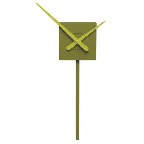 Zegar ścienny z wahadłem Square CalleaDesign oliwkowo-zielony (11-008-54)