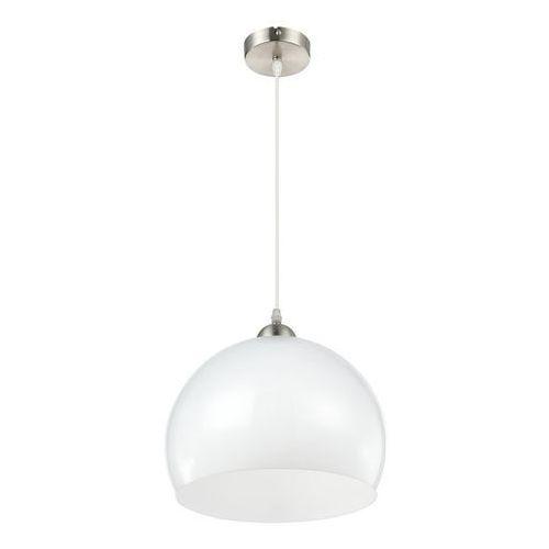 Lampa wisząca robbie 14005h lampa sufitowa zwis 1x60w e27 nikiel mat / biały opal marki Globo