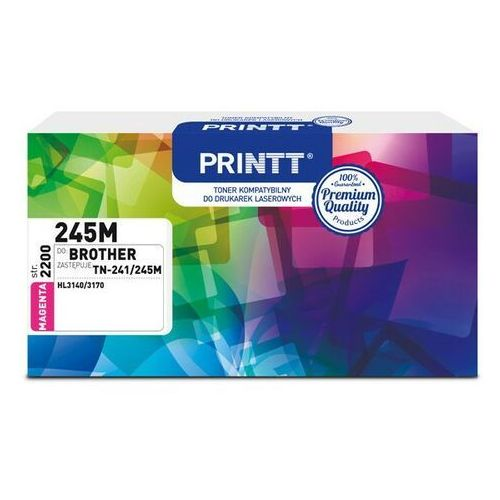 Toner PRINTT do BROTHER NTB245M (TN-241/245M) magenta 2200 str.