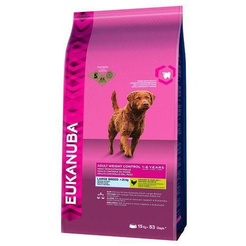 12/15 kg Eukanuba + 270 g Pedigree DentaStix Fresh gratis! - Adult Weight Control Large Breed, 15 kg (8710974910954)