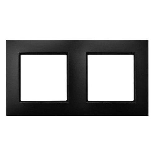 Ramka podwójna Ospel Aria R-2U/33 czarny metalik, kolor czarny