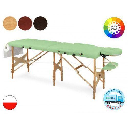 Składany stół do masażu Tris LM6 drewniany z regulacją wysokości