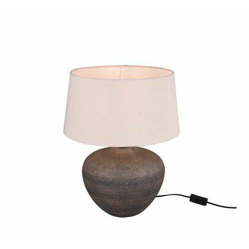 Trio rl lou r50963844 lampa stołowa lampka 1x60w e27 brązowa/beżowa (4017807469776)