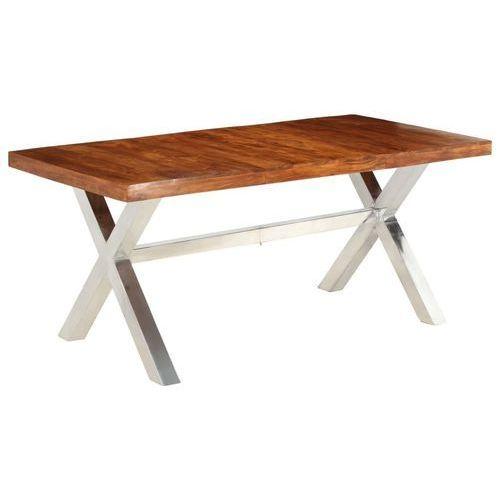 Vidaxl Stół jadalniany, lite drewno o wyglądzie sheesham, 180x90x76 cm
