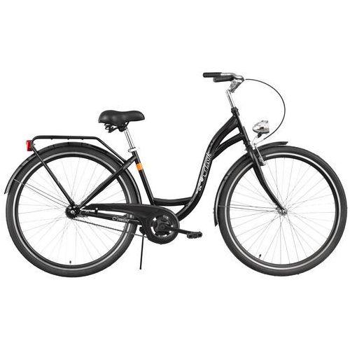 Rower  retro s1b czarny połysk + darmowy transport! + zamów z dostawą jutro! + 5 lat gwarancji na ramę! marki Dawstar