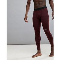 ASOS 4505 Running Tights In Burgundy - Red, w 5 rozmiarach