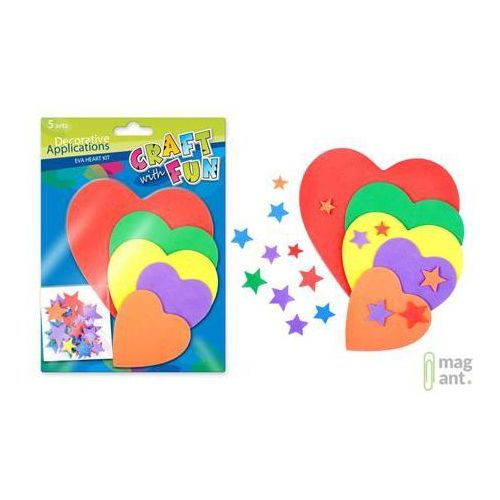 Ozdoba dekoracyjna piankowa serce 5 kompletów marki Craft with fun
