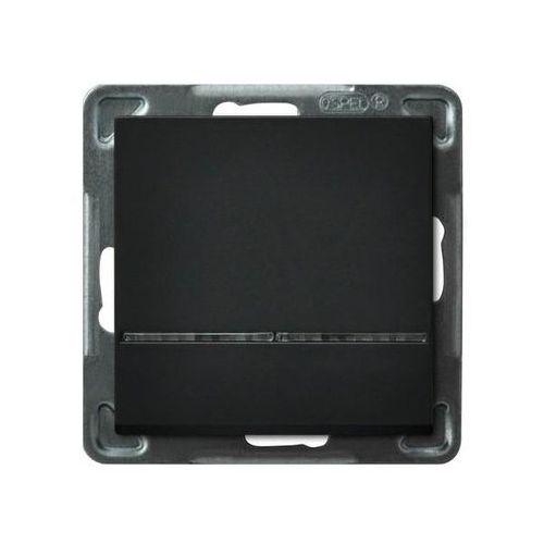 Wyłącznik hotelowy Ospel Sonata ŁP-15RS/M/33 16A IP20 czarny metalik, ŁP-15RS/M/33