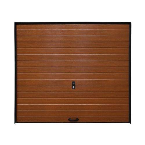 Brama garażowa SEGMENTOWA BEZ NAPĘDU Złoty dąb ECO
