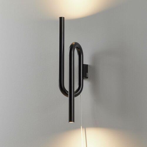 Foscarini Tobia kinkiet LED z kablem czarny (8025594108262)